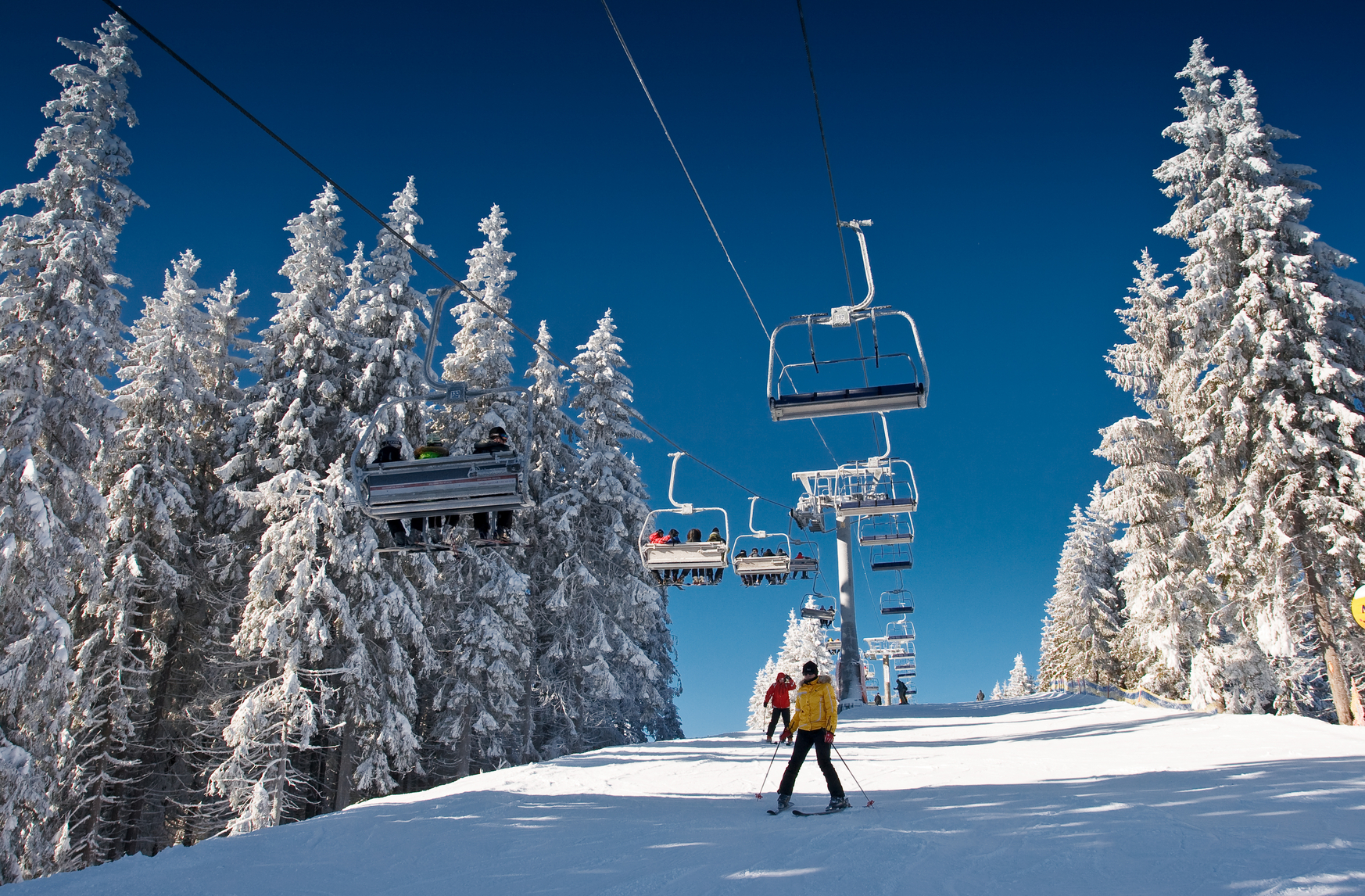 Skiing resort